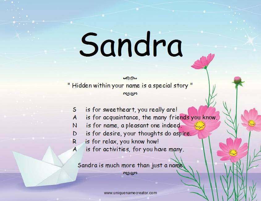 дело картинки с именами сандра каталоге показаны разные