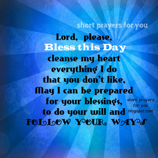 Short Simple Prayer Quotes: Weekend Quotes Morning Blessings. QuotesGram