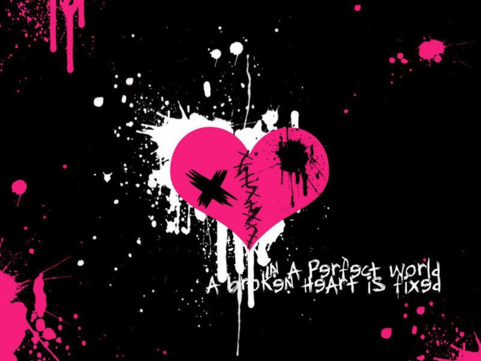 2074917201 Emo Heart HD Wallpaper