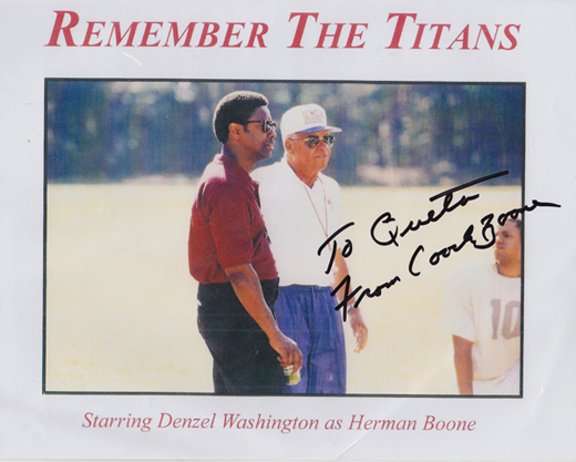 From Remember The Titans Coach Boone Quotes. QuotesGram