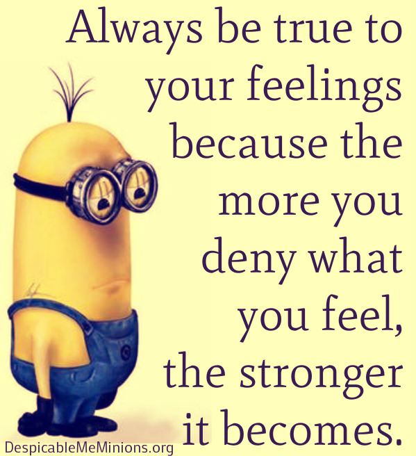 Minion Quotes About Feelings Quotesgram