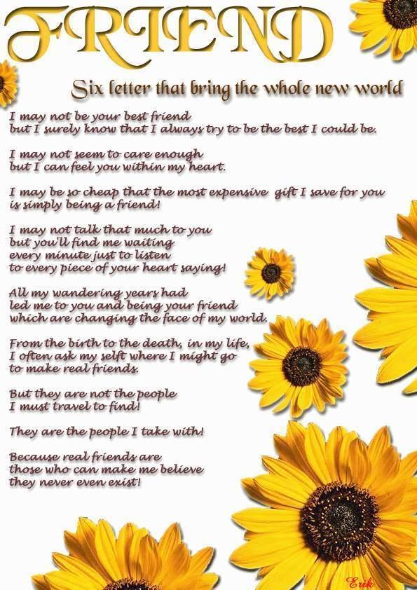 English poem in on friendship Friendship Day
