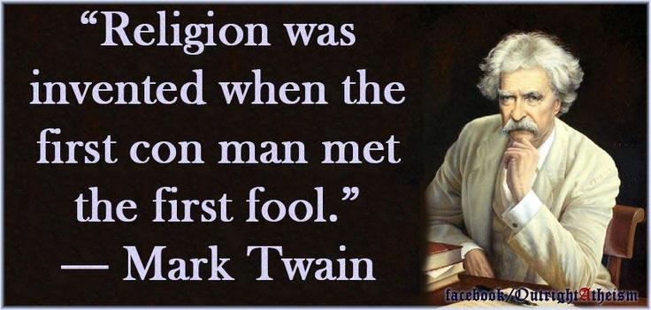 mark twain quotes on religion  quotesgram