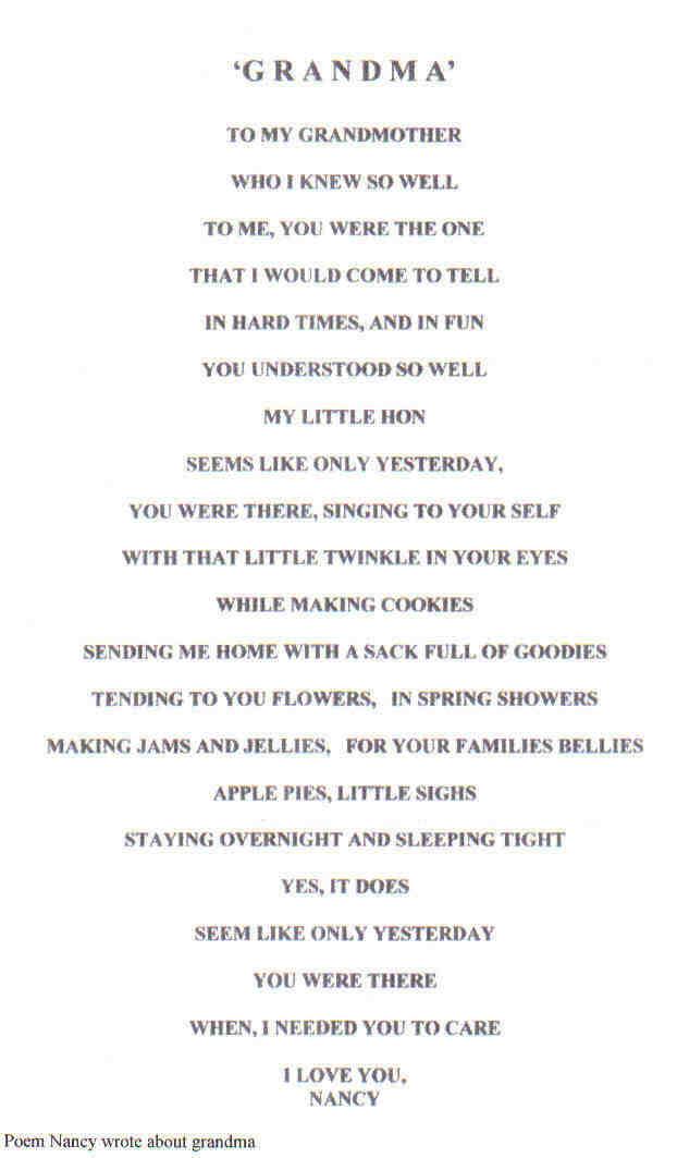 How to write a speech for my grandmas funeral