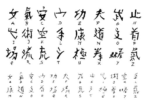 Chinese Alphabet Calligraphy Sets