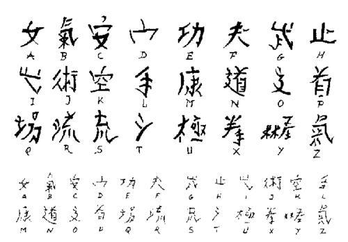 Japanese Alphabet Letter L