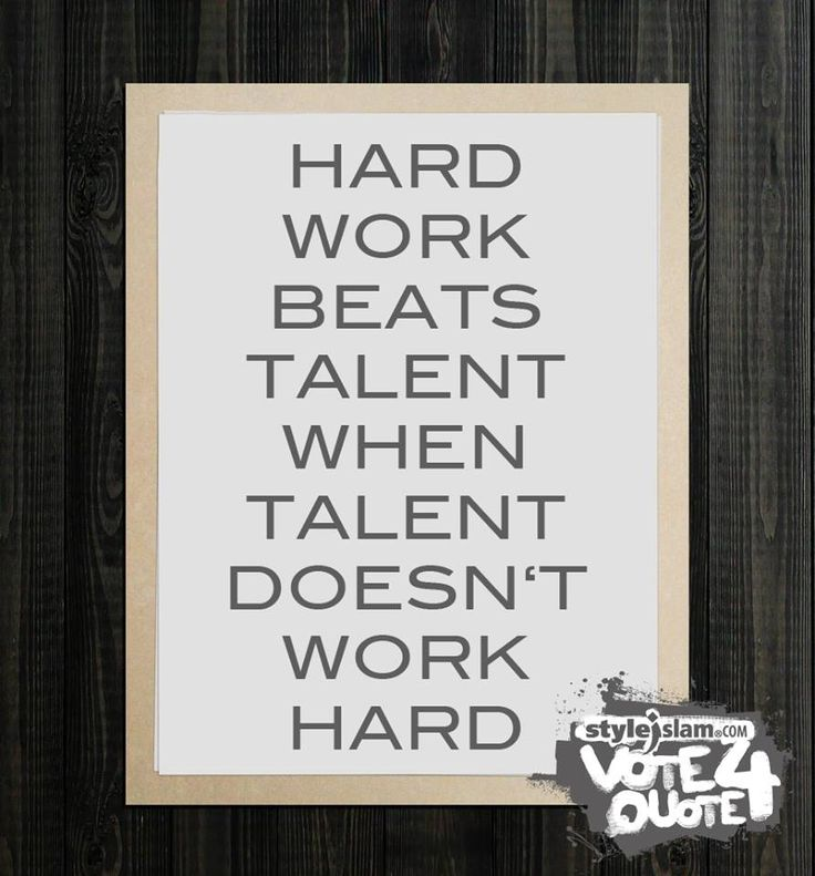 "talent vs determination I think everyone has heard the saying, ""hard work will always beat talent when talent doesn't work hard"" in my experience, this statement holds true i know."