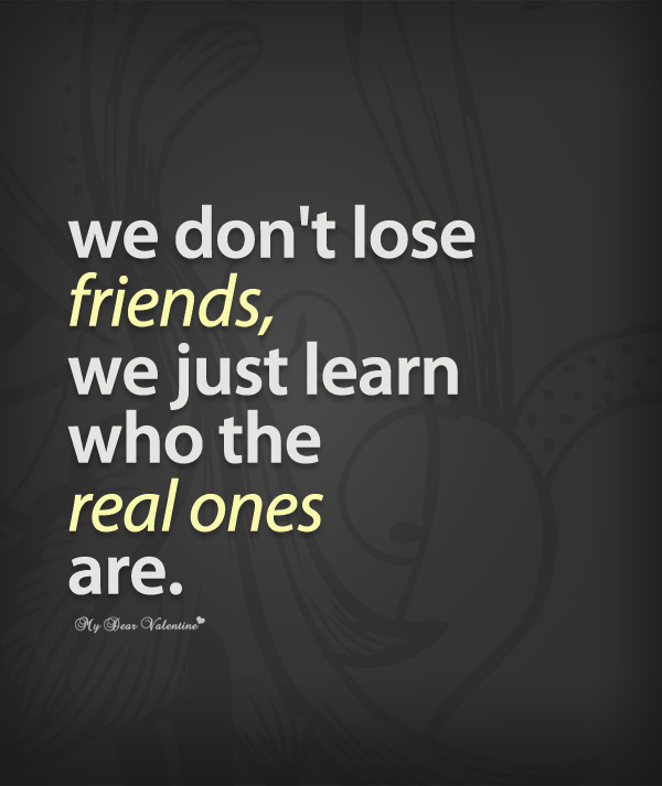 Quotes For Real Friendship: Sad But True Friends Quotes. QuotesGram