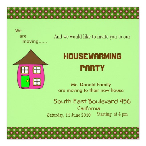 Invitation House Warming with perfect invitations template