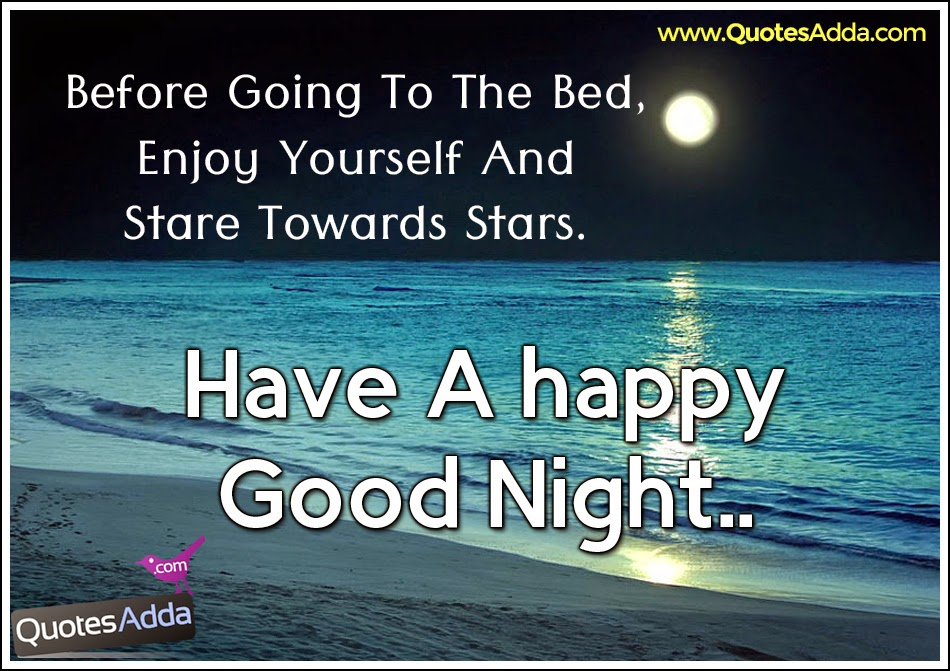 Good Night Motivational Quotes In English: Happy Good Night Quotes. QuotesGram