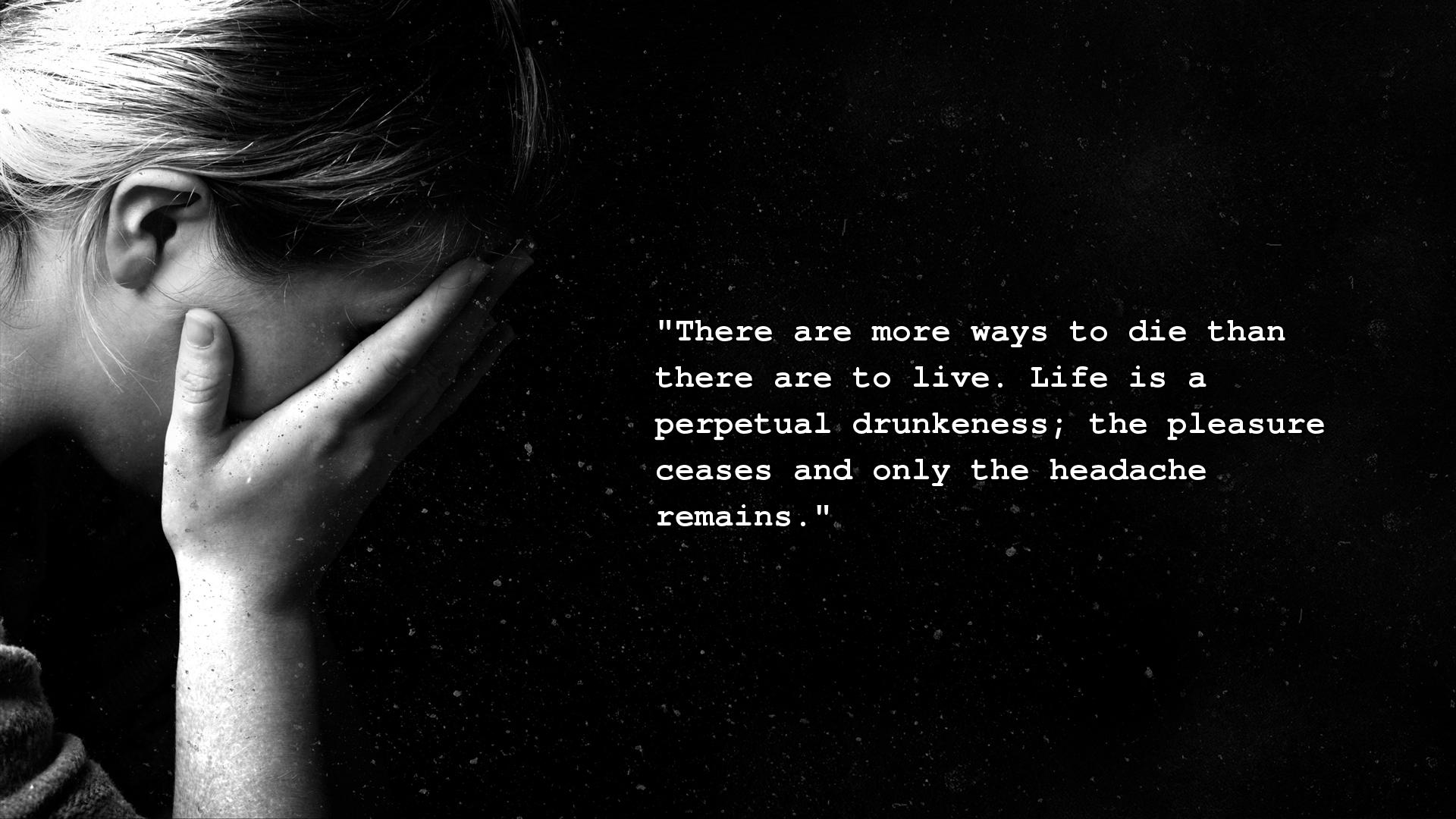 Dark Depressing Quotes Wallpapers Quotesgram