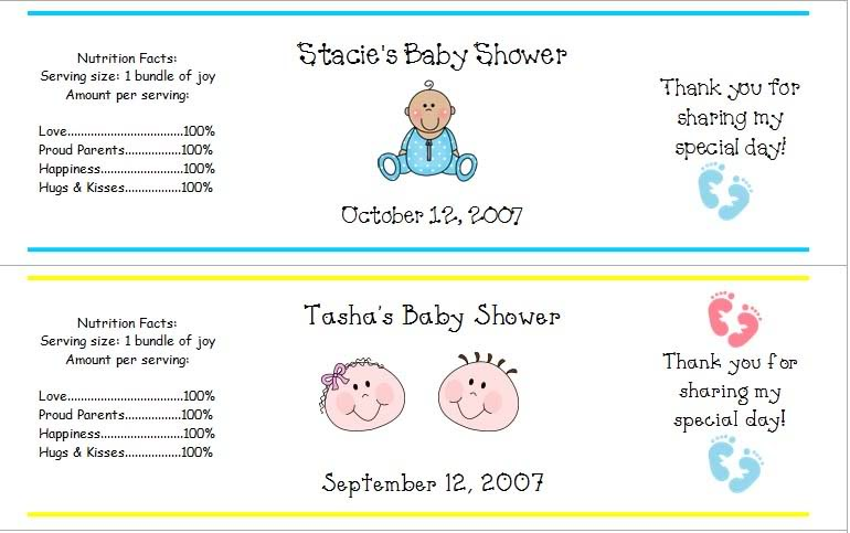 Baby Boy Shower Water Bottle Labels. Pink And Grey Elephants ...