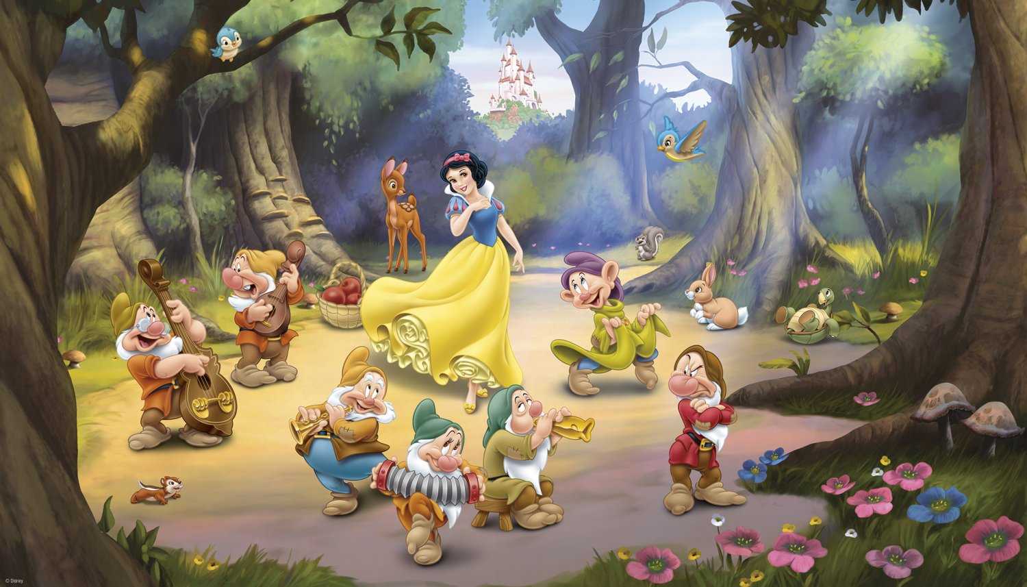 snow white and the seven dwarfs - HD 1500×857
