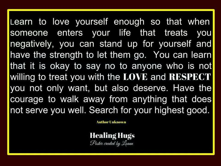 Treat Yourself With the Love and Respect You Deserve
