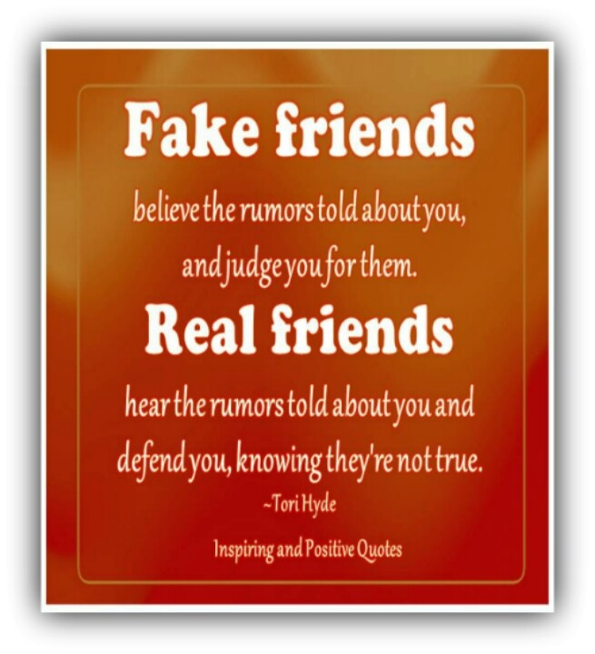 Quotes And Images About Fake Friends: Fake Friends Vs Real Friends Quotes. QuotesGram