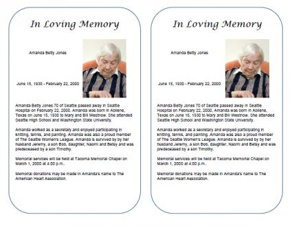 Obituaries quotes quotesgram for Obituary guide template