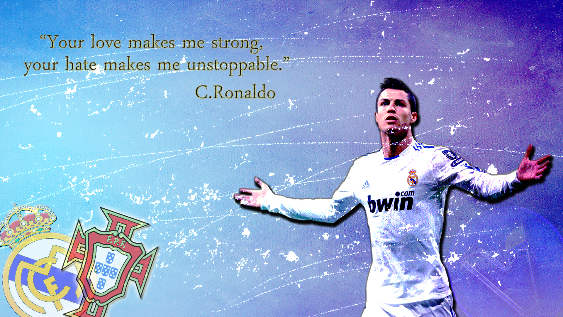 Cristiano ronaldo quotes wallpaper quotesgram for Cristiano ronaldo wall mural
