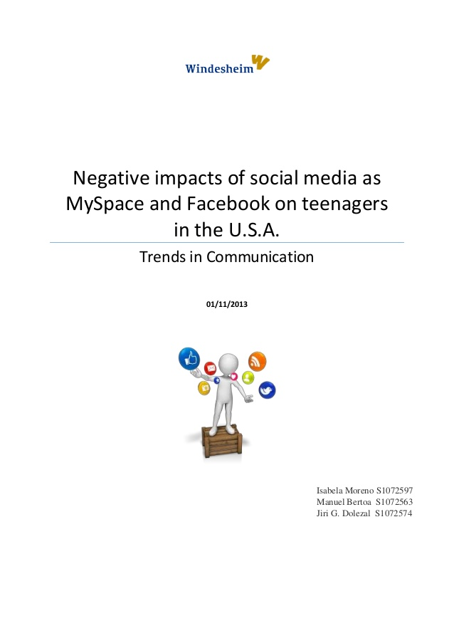 the effect of social media on teenagers essay Critically assess the effect of social media on society critically assess the effect of social media on society social media as defined by andreas m and michael (2010, p.