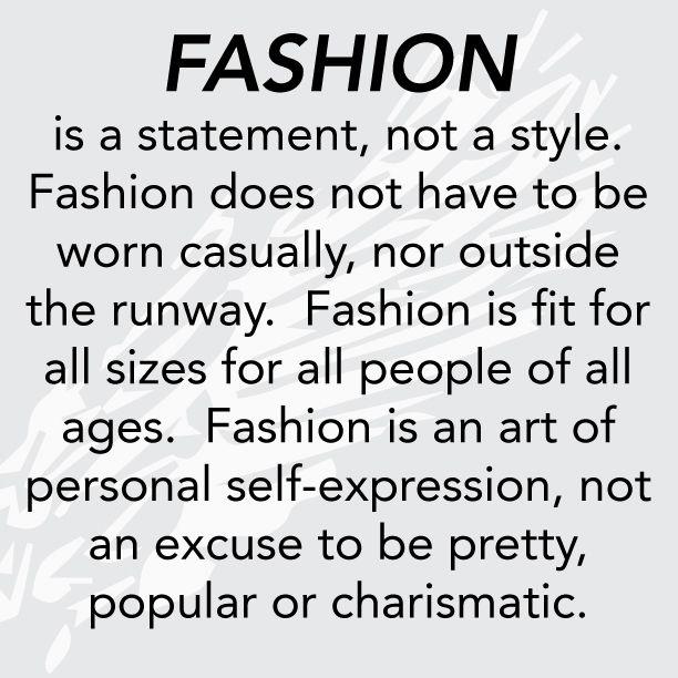 Fashion Statement Quotes Quotesgram