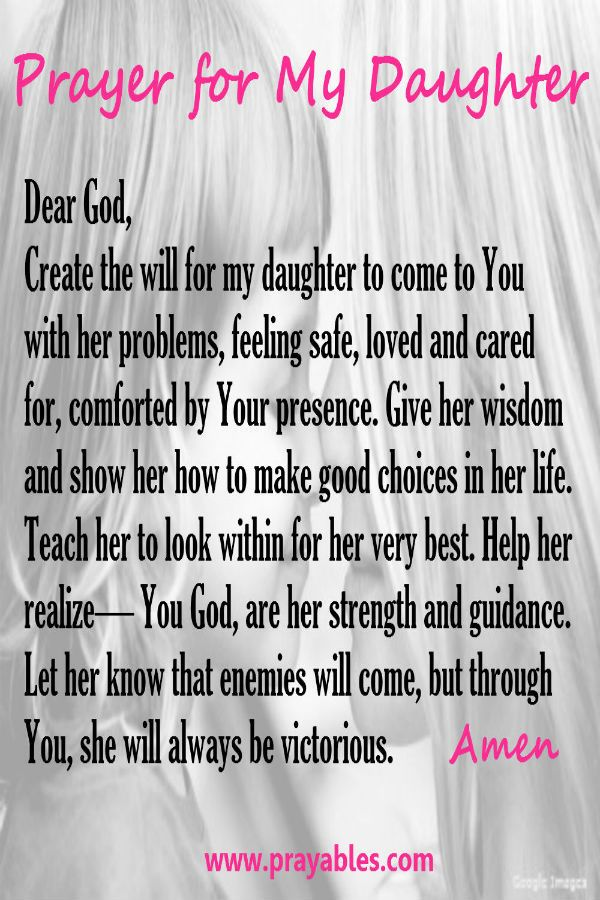 Convey Your Little Girl S Personality Through Her Bedroom: Prayer Quotes For Daughters. QuotesGram