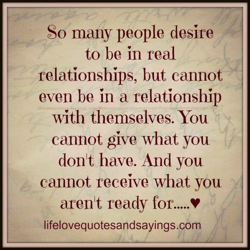 quotes about what a real relationship is