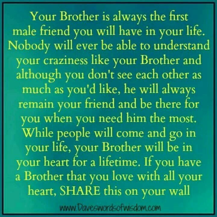 I Was A Son A Brother Like You A Younger: Quotes About Brothers Protecting Sisters. QuotesGram
