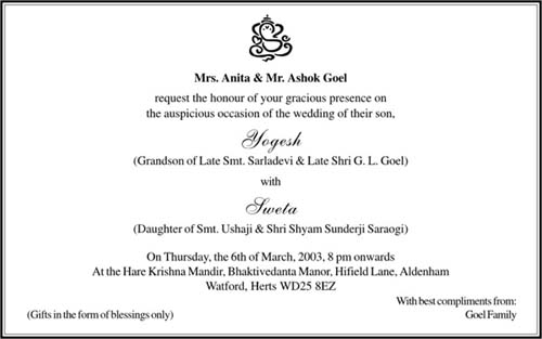 Wedding Invitation Wording English: Hindu Marriage Quotes. QuotesGram