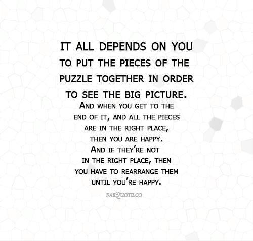 Puzzle Pieces Inspirational Quotes. QuotesGram