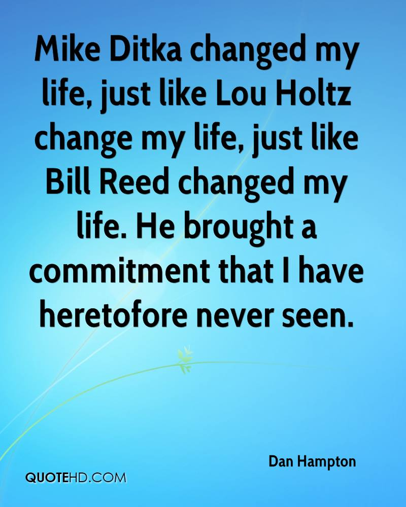 Impacted My Life Quotes: Lou Holtz Quotes About Life. QuotesGram