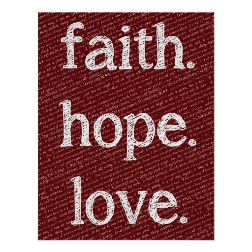 bible quotes on faith hope and love quotesgram