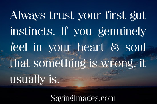 Feeling relationships your gut trusting in How To