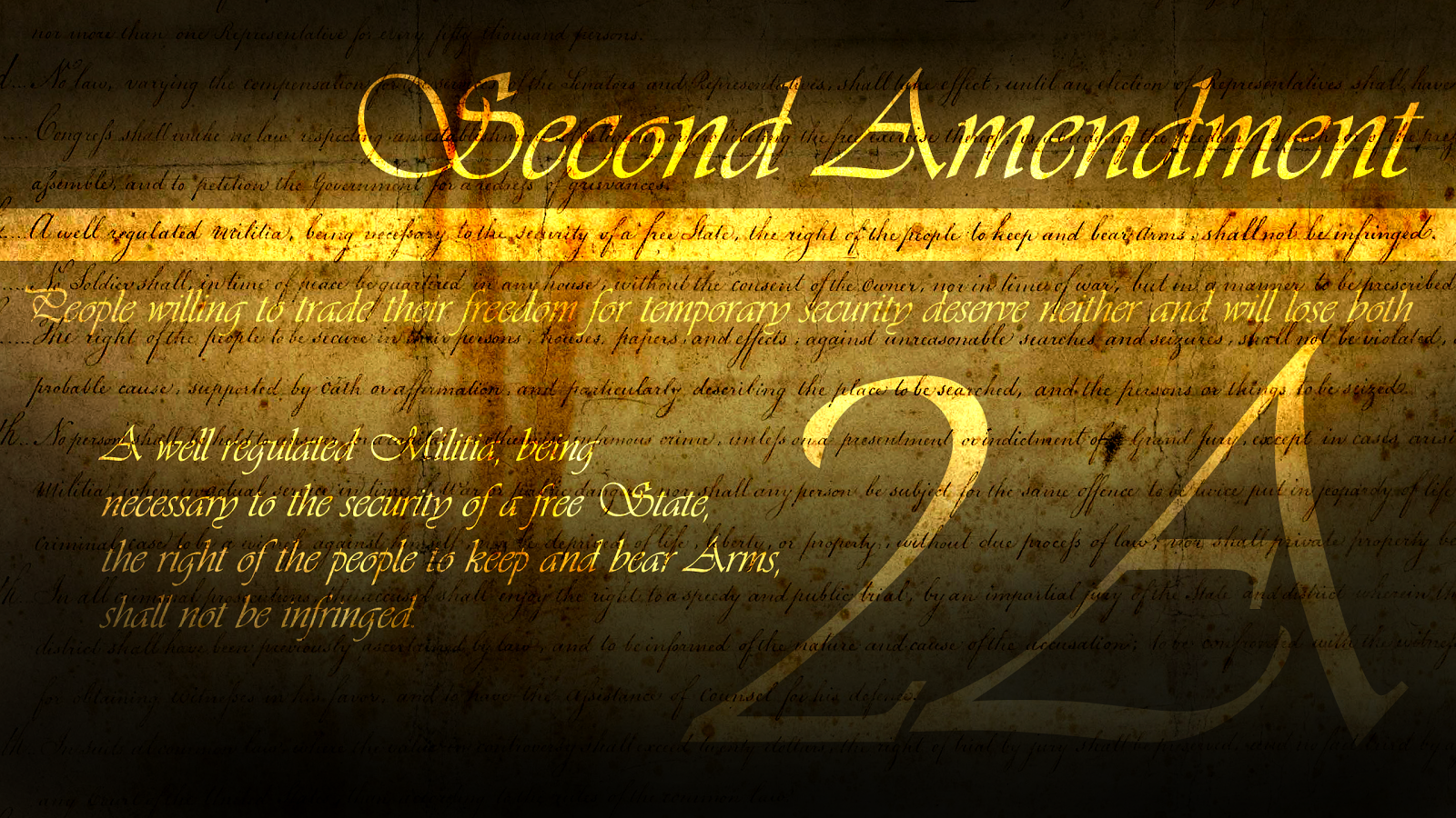 the first and second amendment Note: the following text is a transcription of the first ten amendments to the constitution in their original form these amendments were ratified december 15, 1791, and form what is known as the bill of rights  amendment xii - passed by congress december 9, 1803 ratified june 15, 1804.
