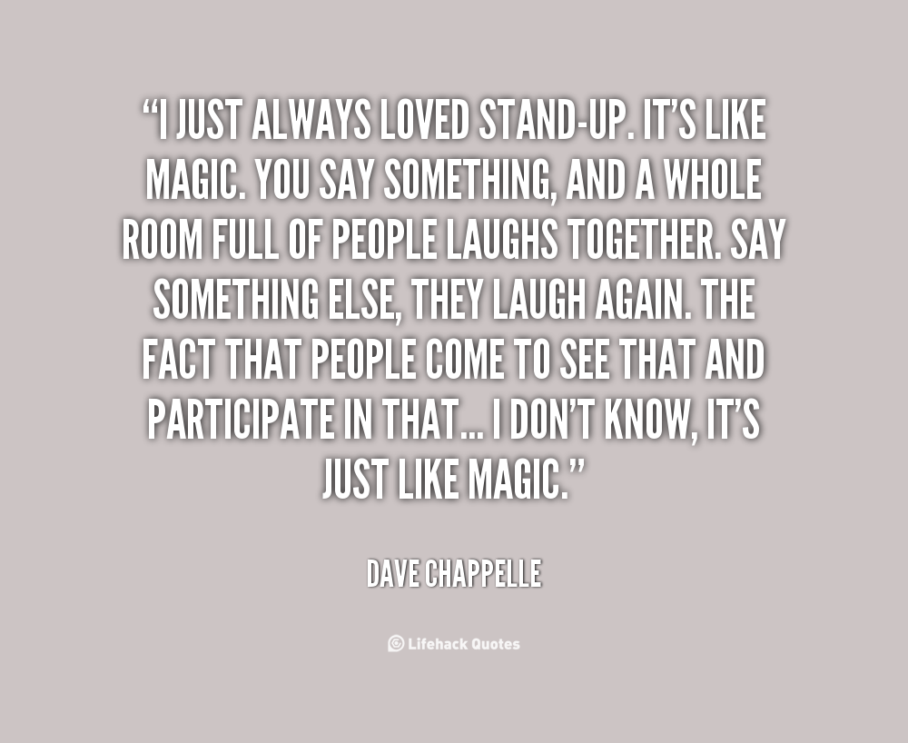 Dave Chappelle Stand Up Quotes. QuotesGram
