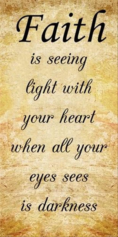 Having Faith And Hope ...
