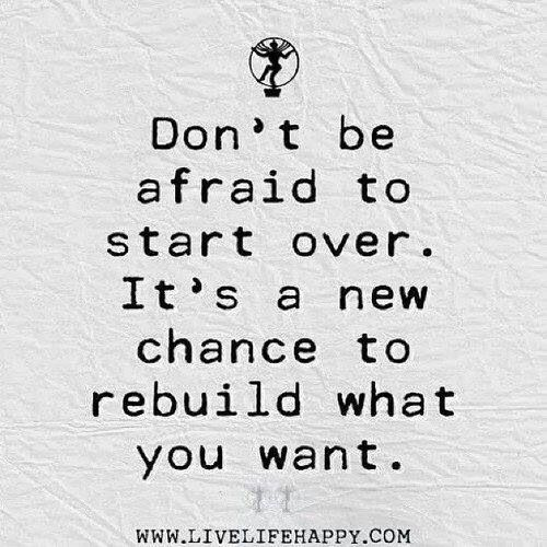 Inspirational Quotes About Failure: Quotes About Starting Over Again. QuotesGram