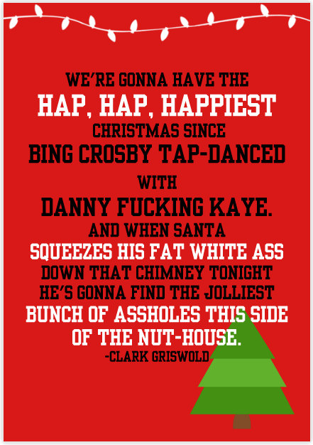Christmas Vacation Rant Quote
