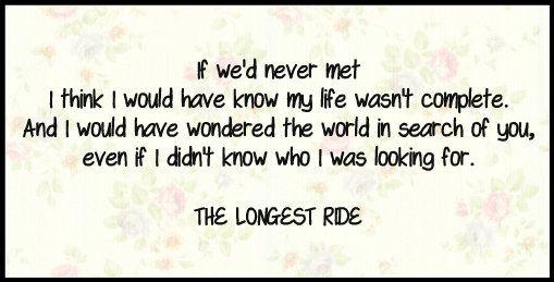 Nicholas Sparks Movie Quotes Quotesgram: From The Longest Ride Nicholas Sparks Quotes. QuotesGram