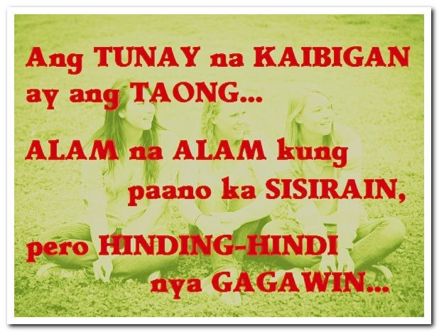 Quotes About Tagalog Friendship Friendship Quot...
