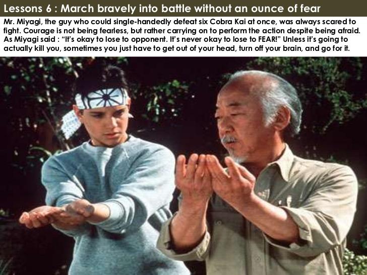 Karate Kid  Miyagi Quotes