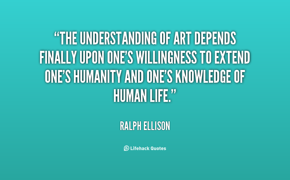 self understanding in the invisible man by ralph ellison Ellison described invisible man, published in 1952, as a novel about innocence  and human error, a struggle through illusion to reality ellison claimed that his.