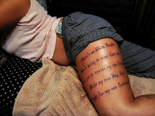 Cute Tattoo Quotes On Thighs. QuotesGram