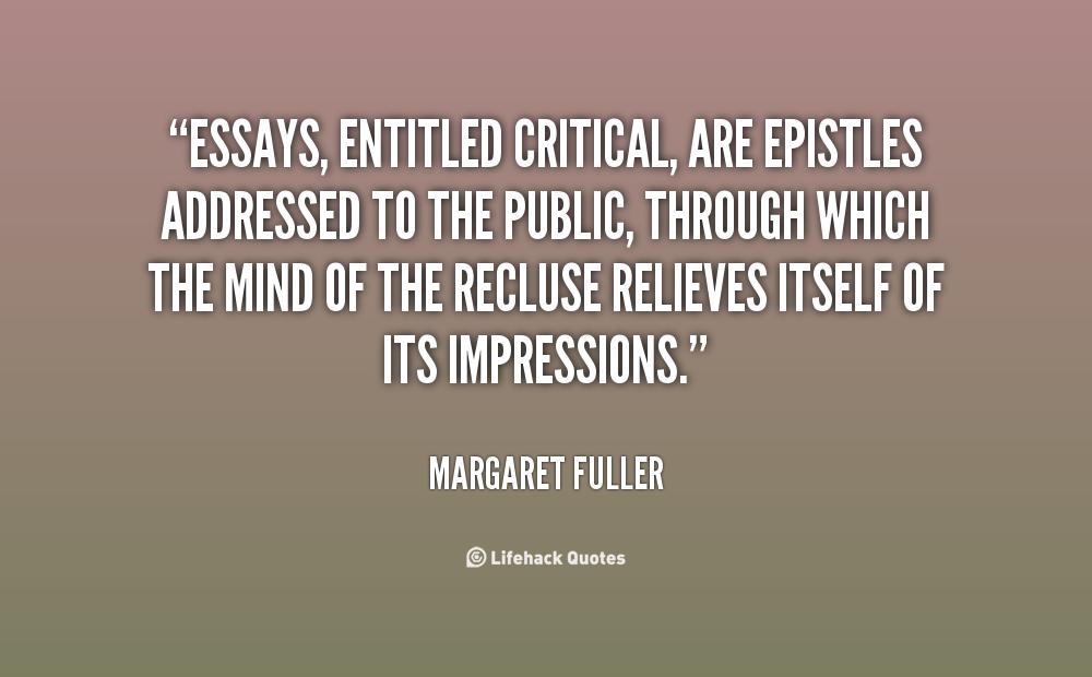 Margaret fuller essays