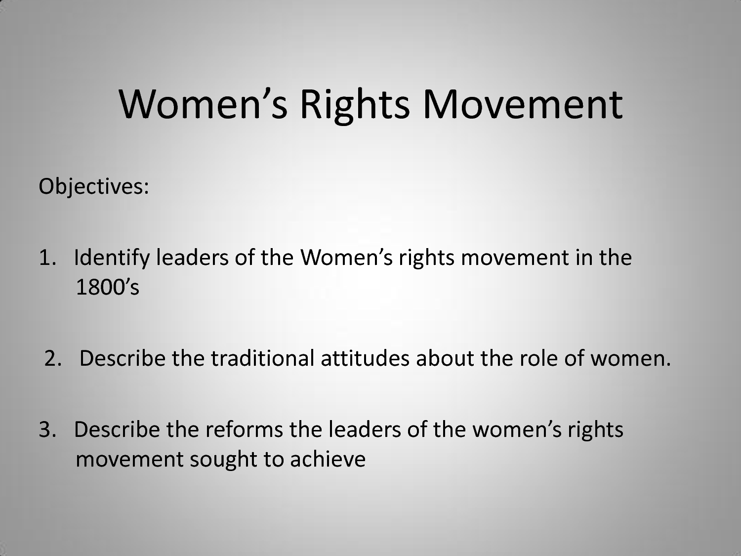 The womans suffrage movement in the 1800s