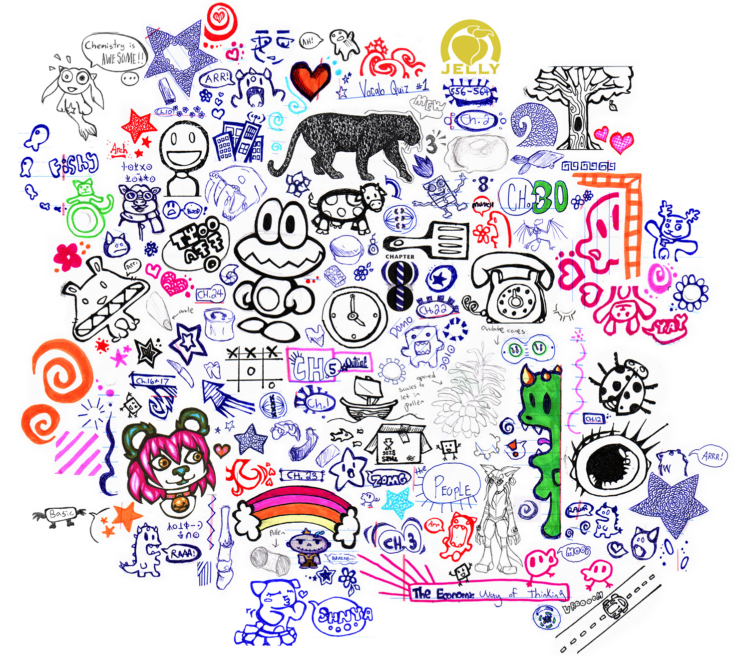 doodles margin doodle cute peach jelly random quotes drawing brain draw effects deviantart quotesgram memory sketchbook collages suggest exist consistently