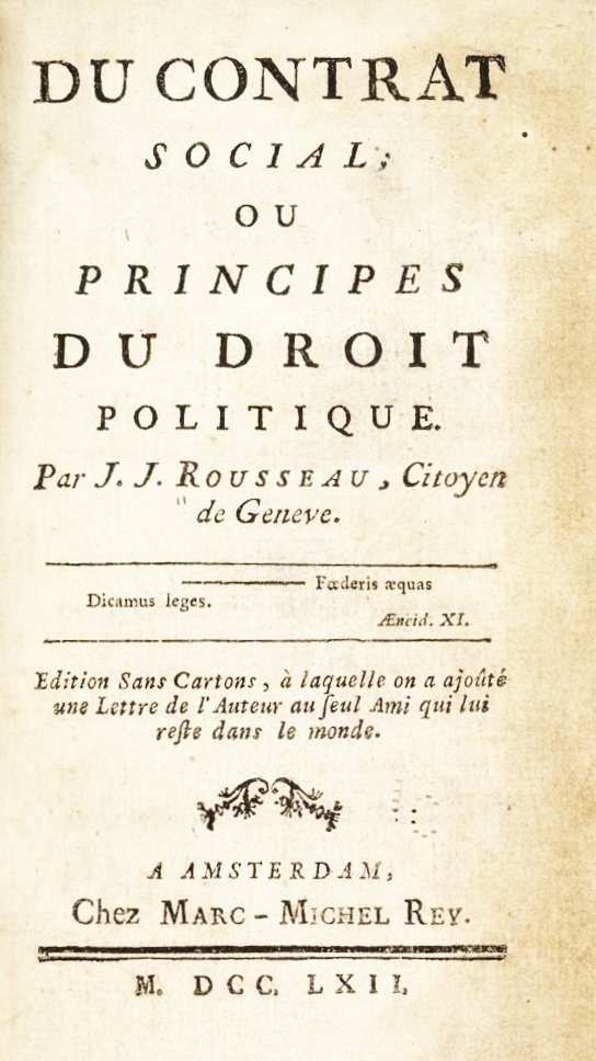 essays on the social contract rousseau