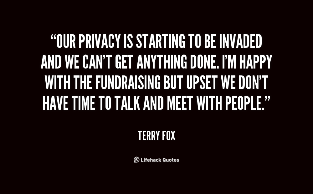 facebook didn't invade our privacy we The blogger didn't just find the page's name and e the debate over how much privacy we are willing to give up it seems our privacy has been.