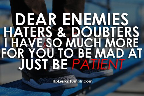 Inspirational Quotes About Enemies. QuotesGram