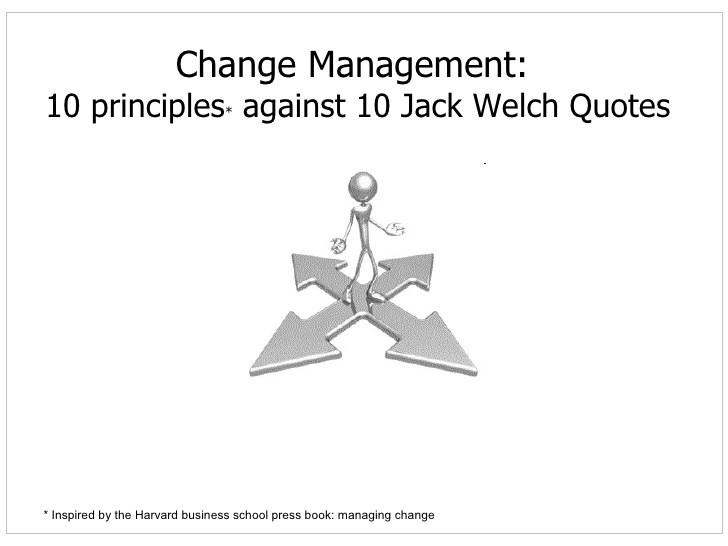 Life based leadership principles from jack welch essay