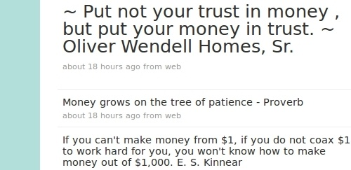 Quotes On Saving Money: Inspirational Quotes About Saving Money. QuotesGram