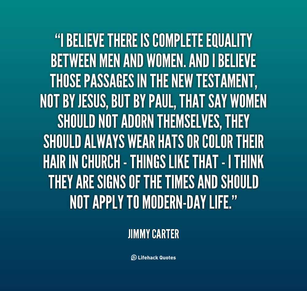 men and women were created equal essay